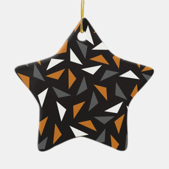 Animated triangles ceramic star decoration