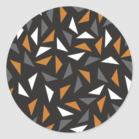 Animated triangles classic round sticker