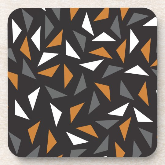Animated triangles drink coaster