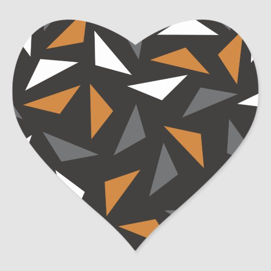 Animated triangles heart sticker