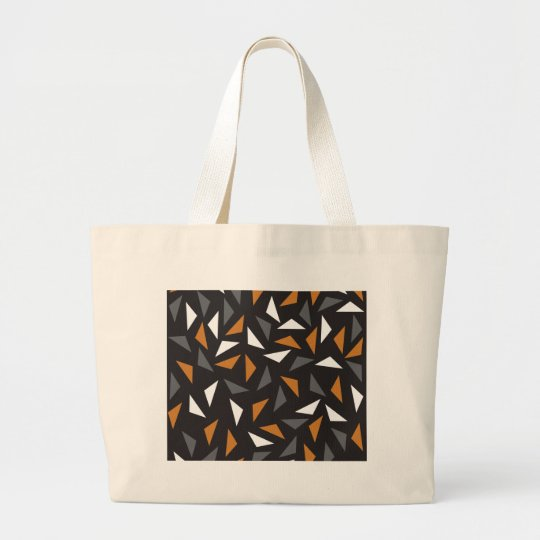 Animated triangles large tote bag