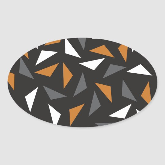 Animated triangles oval sticker