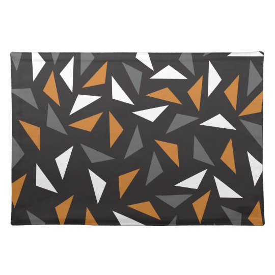 Animated triangles place mats