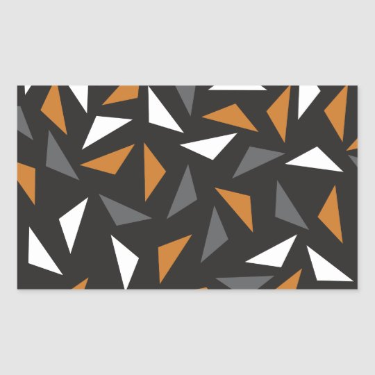 Animated triangles rectangular sticker