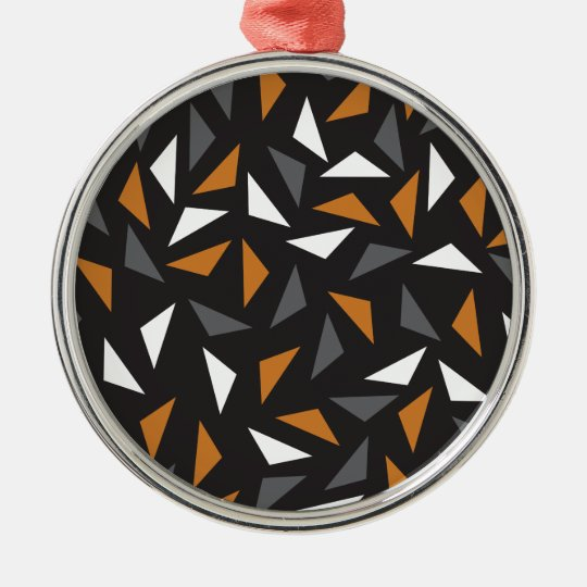 Animated triangles Silver-Colored round decoration