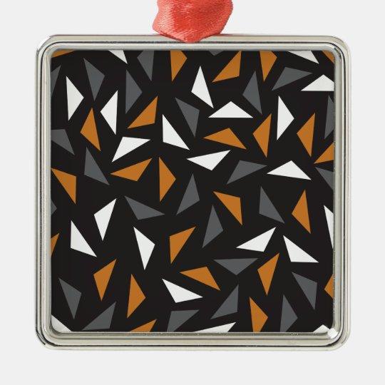 Animated triangles Silver-Colored square decoration