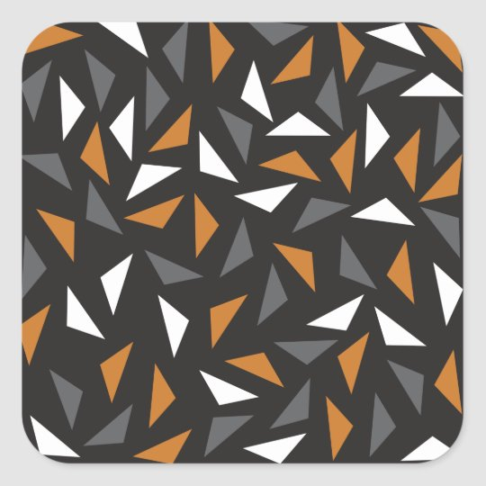 Animated triangles square sticker