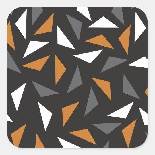 Animated triangles square sticker