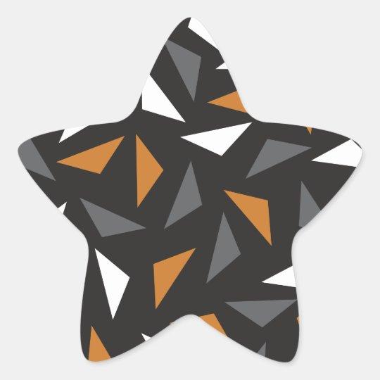 Animated triangles star sticker