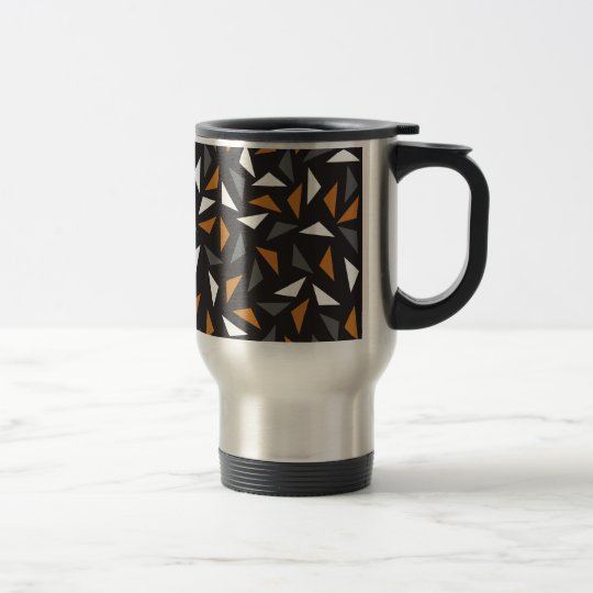 Animated triangles travel mug