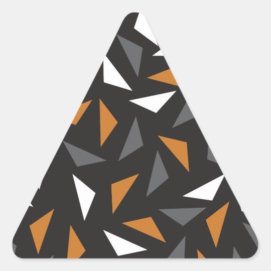Animated triangles triangle sticker