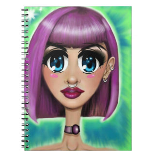 Animation Girl Notebook