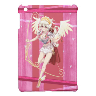 Anime Angelic Cupid - Pink, On Hearts Case For The iPad Mini