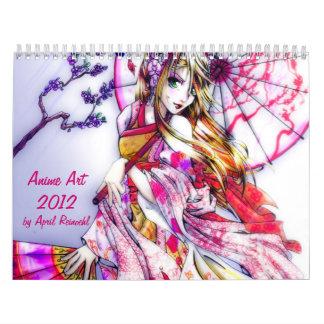 Anime art 2012 wall calendars
