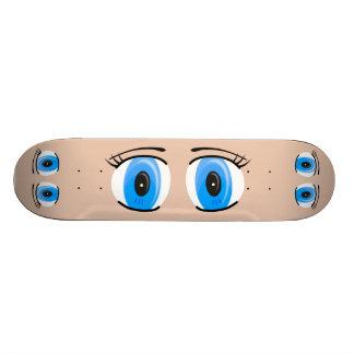 Anime Blue Eyes Skateboard