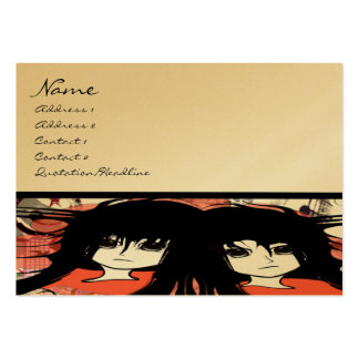 Anime Business Card Template