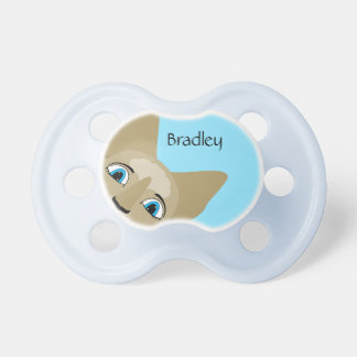 Anime Cat Face With Blue Eyes Baby Pacifiers