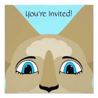 Anime Cat Face With Blue Eyes Personalized Invite