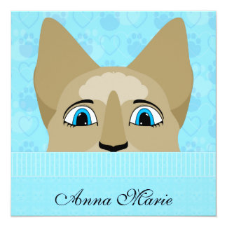 Anime Cat Face With Blue Eyes Custom Announcements