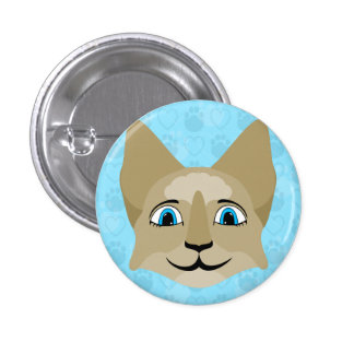 Anime Cat Face With Blue Eyes Pins