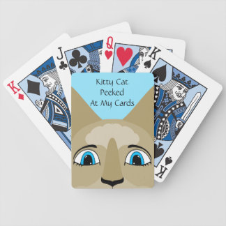 Anime Cat Face With Blue Eyes Bicycle Poker Cards