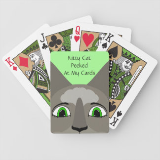Anime Cat Face With Green Eyes Playing Cards