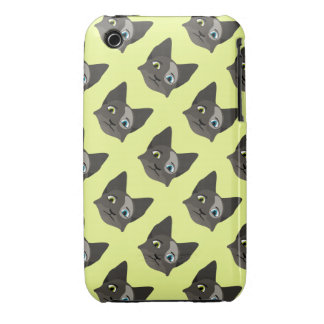 Anime Cat Face With Multi Colored Eyes iPhone 3 Cover