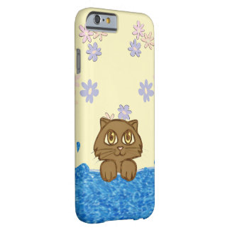 Anime Cat in Water Yellow Shower Barely There iPhone 6 Case