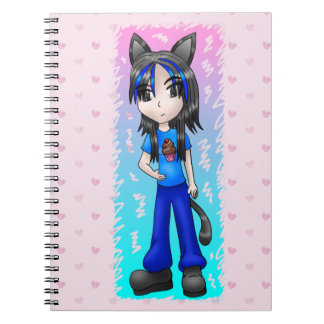 anime catgirl notebook