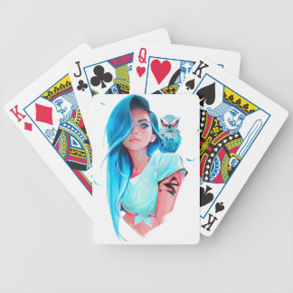 anime cool looking girl design graphic bicycle playing cards