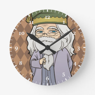 Anime Dumbledore Round Clock