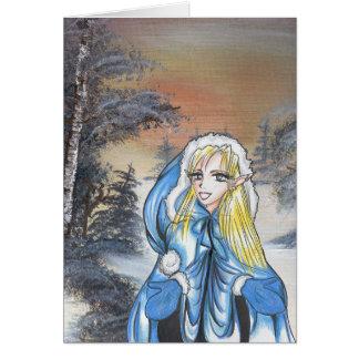 Anime Elf Holiday Card