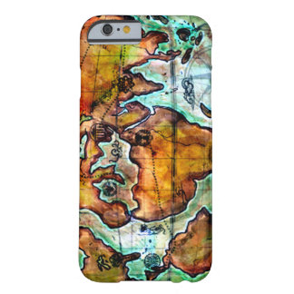 Anime Fantasy World Map iPhone Barely There iPhone 6 Case