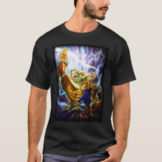 Anime Fantasy Zeus Warrior Graphic Tee