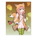 Anime Girl in Fox Cosplay