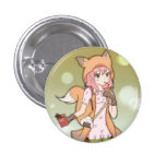 Anime Girl in Fox Cosplay 3 Cm Round Badge