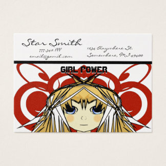 Anime Girl Power Business Card