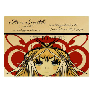 Anime Girl's Club Pack Of Chubby Business Cards