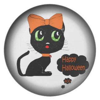 Anime Halloween Black Cat Party Plates