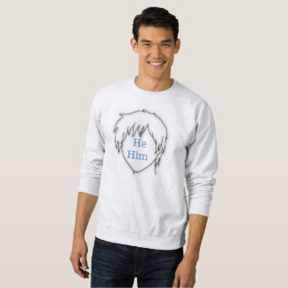 Anime he him pronoun sweatshirt