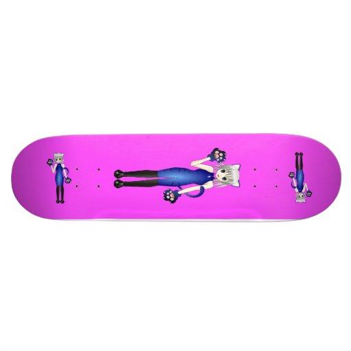 Anime IceCat Girl Skateboard