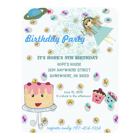 Anime Magical Days Invitation  Birthday Party