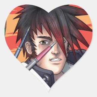 Anime Manga Artist Heart Sticker