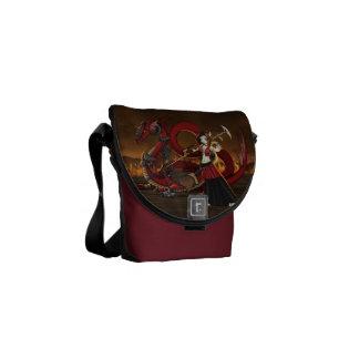 Anime Manga Warrior Dragon Messanger Bag Commuter Bag