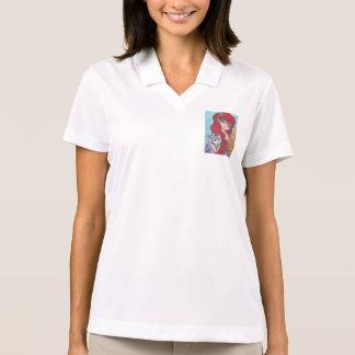 Anime Mermaid Catfist Art Print Polo Shirt