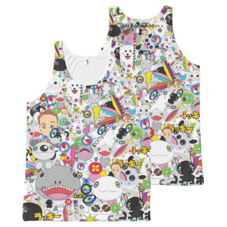 Anime mix All-Over print tank top