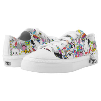 Anime mix printed shoes