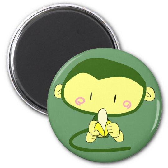Anime Monkey w/ Banana Magnet
