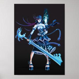 Anime Pirate Girl Poster