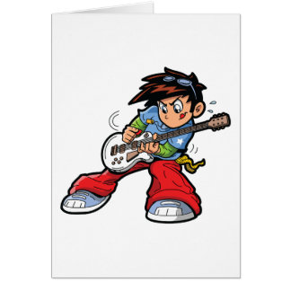 Anime Rock Star Greeting Cards